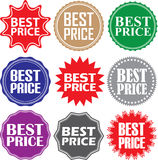 Best price signs set, best price sticker set, vector illustratio Stock Image