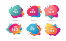 Best Price. Special offer sale sign. Vector. Best Price. Special offer Sale sign. Advertising Discounts symbol. Abstract dynamic shapes with icons. Gradient vector illustration