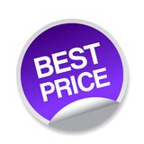 Best price sticker. Label - editable vector illustration on isolated white background stock illustration