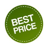 Best price sticker. Label - editable vector illustration on isolated white background royalty free illustration