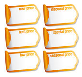 Best price stickers. Stock Images