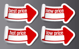 Best price stickers. Royalty Free Stock Image