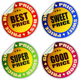 Best price stickers. Vector illustration Stock Photos