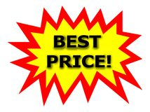 BEST PRICE tag Stock Photography