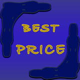 Best price tag Royalty Free Stock Photography
