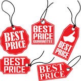 Best price tag set, vector illustration Stock Photography