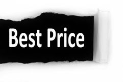 Best price under paper Royalty Free Stock Photo