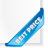 Best Price vector corner. Royalty Free Stock Images