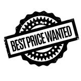 Best Price Wanted rubber stamp Royalty Free Stock Photos