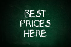 Best prices here Stock Photo