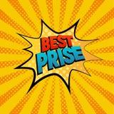 Best Prise gwiazdową bąbel komiczki stylu wektoru ilustrację Obraz Royalty Free