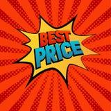 Best Prise gwiazdową bąbel komiczki stylu wektoru ilustrację Zdjęcia Royalty Free