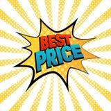 Best Prise gwiazdową bąbel komiczki stylu wektoru ilustrację Fotografia Royalty Free