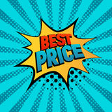 Best Prise star bubble comic style vector illustration. Stock Photography