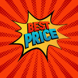 Best Prise star bubble comic style vector illustration. Royalty Free Stock Photos