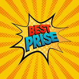 Best Prise star bubble comic style vector illustration Royalty Free Stock Image
