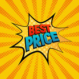 Best Prise star bubble comic style vector illustration Stock Image