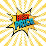Best Prise star bubble comic style vector illustration Royalty Free Stock Photography