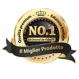 Best product award stamp with italian text. Royalty Free Stock Images