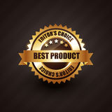 Best product golden label badge vector design Stock Photos