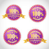 Best product guarantee stickers Royalty Free Stock Photos