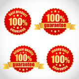 Best product guarantee stickers Stock Photo