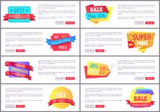 Best Product Hot Exclusive Low Best Web Posters. Best product hot exclusive low price premium choice special offer collection of color posters with web buttons Stock Photography