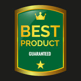 Best product label. On black background, vector illustration Stock Image