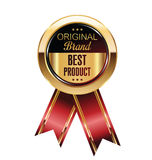 Best product label. Original brand best product label Royalty Free Stock Image