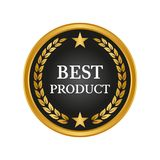 Best product label on white background. Vector illustration Royalty Free Stock Image