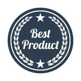 Best product label on white background. Vector illustration Stock Photography