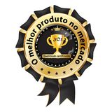 Best product on the market; award stamp with Portuguese text. Royalty Free Stock Photography