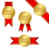 Best Product medal ribbons set royalty free illustration
