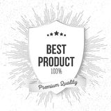 Best product shield isolated on blurred background Royalty Free Stock Photo