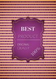 Best product stamp on striped background Royalty Free Stock Photos