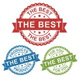 The best, best product, vector badge label stamp tag for product, marketing selling online shop or web e-commerce. The best, best product, vector badge label Royalty Free Stock Image