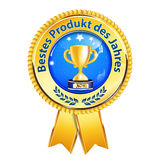 Best product of the Year - German award quality retail ribbon Stock Photo