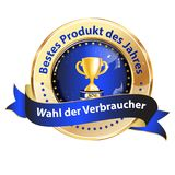 Best product of the Year  German language award ribbon Stock Images