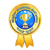 The best product of the year Italian language award ribbon Royalty Free Stock Photo