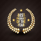Best product of the year 2015 winner badge label design vector. Illistration Stock Photo