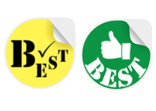 Best products stickers set Stock Photography