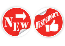 Best products stickers set Stock Photos