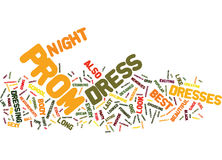 Best Prom Dress Word Cloud Concept Stock Photo