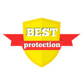 Best protection banner with ribbon. royalty free illustration