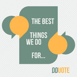 Best for qquote. Abstract frame and stylish quotes with place for text over striped background. vector banner template stock illustration