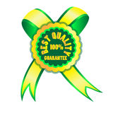 Best quality. Icon - warranty for sales marks the best quality Stock Photos