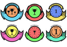 Best quality badge. Illustration set of best quality colorful badge Royalty Free Stock Photography