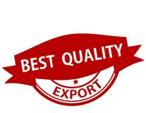 Best quality export. Rubber stamp with text best quality export inside,  illustration Stock Photo