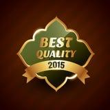 Best quality of 2015 golden label badge design symbol Stock Photography