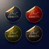 Best quality golden stickers with page curl. Vector vector illustration